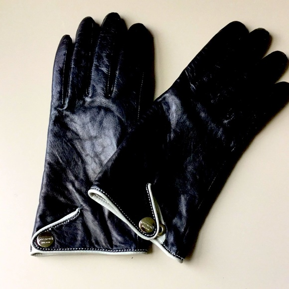 COACH Leather/Cashmere gloves